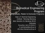 biomedical engineering program undergraduate master doctorate programs