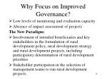 why focus on improved governance2