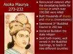 asoka maurya 273 232