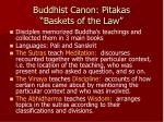 buddhist canon pitakas baskets of the law