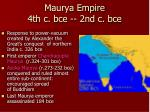 maurya empire 4th c bce 2nd c bce