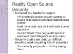 reality open source security1