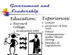government and leadership