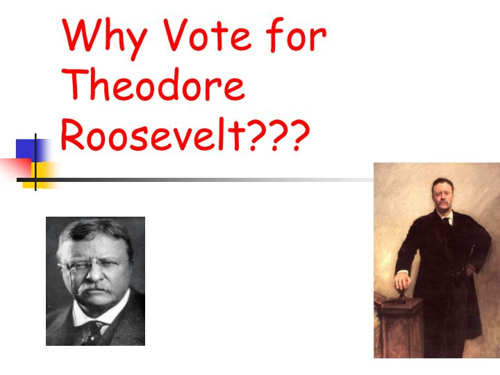 why vote for theodore roosevelt n.
