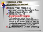 hallmarks of the reformatory movement