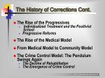 the history of corrections cont