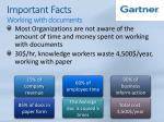 important facts working with documents
