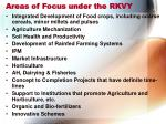 areas of focus under the rkvy