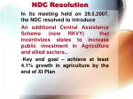 ndc resolution