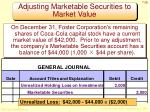 adjusting marketable securities to market value