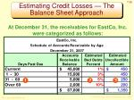 estimating credit losses the balance sheet approach1