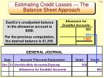 estimating credit losses the balance sheet approach2