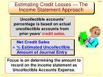 estimating credit losses the income statement approach