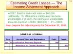 estimating credit losses the income statement approach1