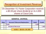 recognition of investment revenue