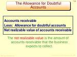 the allowance for doubtful accounts