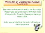 writing off an uncollectible account receivable2