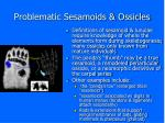 problematic sesamoids ossicles