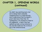 chapter 1 opening words continued