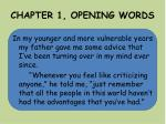 chapter 1 opening words