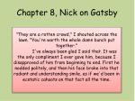 chapter 8 nick on gatsby