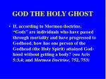 god the holy ghost