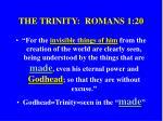 the trinity romans 1 20