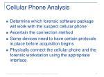 cellular phone analysis