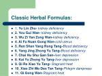classic herbal formulas