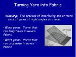 turning yarn into fabric