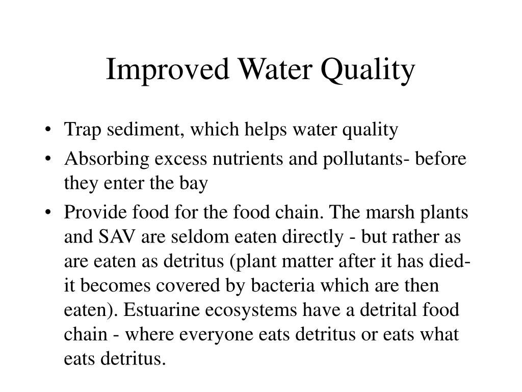 Improved Water Quality