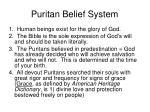 puritan belief system