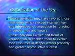 colonization of the sea18