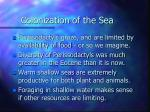 colonization of the sea19