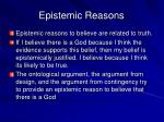 epistemic reasons