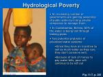 hydrological poverty