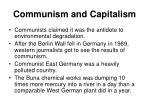 communism and capitalism
