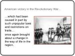 american victory in the revolutionary war
