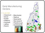 early manufacturing centers