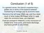 conclusion 1 of 5