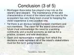conclusion 3 of 5