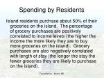 spending by residents