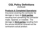 cgl policy definitions continued