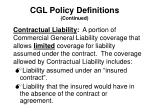 cgl policy definitions continued1