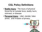 cgl policy definitions