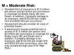 m moderate risk