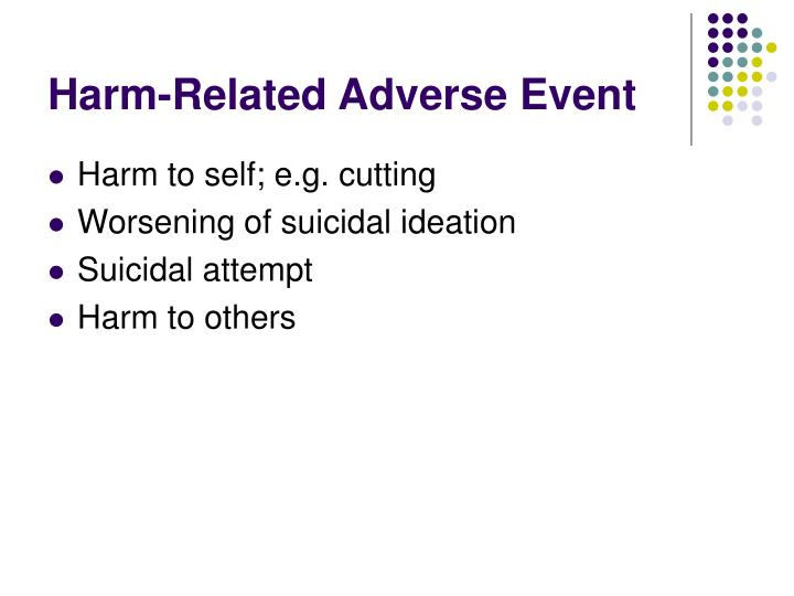 Harm-Related Adverse Event