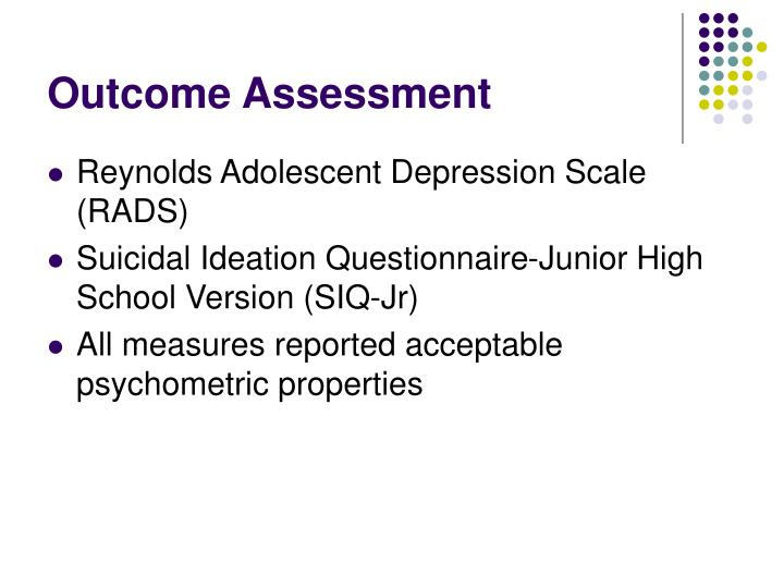 Outcome Assessment