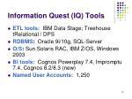 information quest iq tools