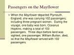 passengers on the mayflower
